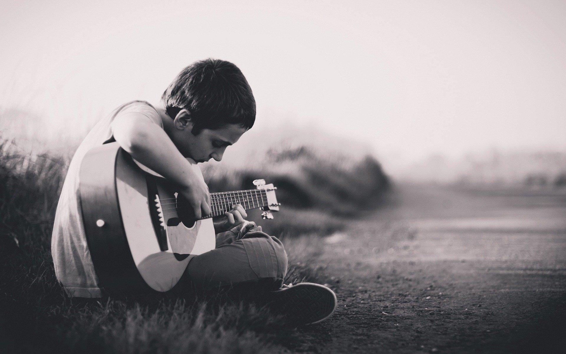 il talento nella chitarra
